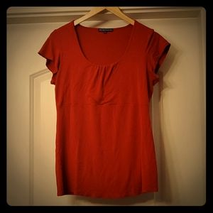 Thyme Maternity - L Red Shirt with sweet Neckline